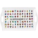 Mr et Mme - Grand Plateau De Service Licence Monsieur Madame Panorama Collection Personnage 50,5 x 31,5 cm