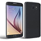 Galaxy S7 Edge 3D Textured Carbon Fibre Decal, Toeoe Luxury Full Body Vinyl Wrap Sticker Skin with a Case for Samsung Galaxy S7 Edge (Black)