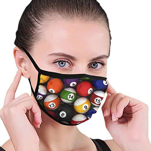 Half Face Mund Hintergrund mit Billardkugeln Maske Gesichtsmasken Anti-Staub Gesicht und Nasenabdeckung Coole weiche winddichte Ski Mund Maske