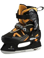 Tecno Pro patines de hockey sobre hielo flash Junior Boy II SCHWARZ/ORANGE/GRAU Talla:29 bis 32