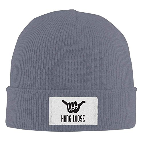 RJHNcase Hang Loose Winter Warm Knit Hats Skull Caps Stretchy Cuff Beanie Hat for Men and Women (Beanie Knit Loose)