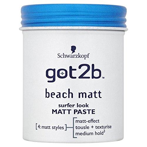 Schwarzkopf - Pâte matte look surfeur plage Got2b X6 - 100ml