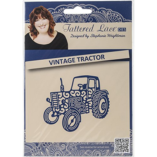 Create and Craft Metal Tattered Lace Die Vintage Tractor D694 Review