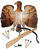 Set : Vogelschießen - Bogenschießen - Vogel Adler - braun natur 49 cm * 46 cm + Armbrust