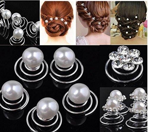Cuhair (TM) 10 pcs Accessoires Cheveux pour femme Chouchou Twist Hairpin Mariage Pince à cheveux Ornement Barrette Bandeaux de mariage Haccesorios
