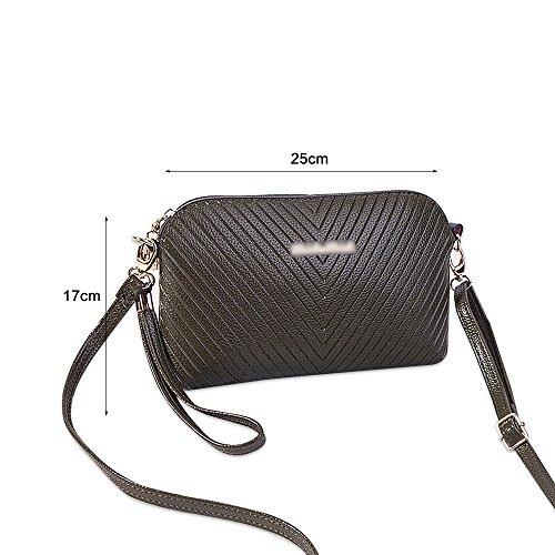 Borsa a tracolla della borsa della borsa del totalizzatore della borsa a tracolla della borsa delle donne di Ya Jin Nero