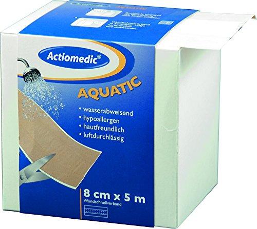 Actiomedic® AQUATIC Wundschnellverband Hautfarben 8 cm x 5 m
