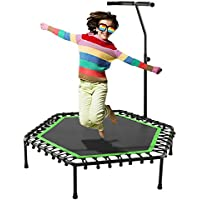Preisvergleich für FORIN Profi-Trampolin Jumping Fitness Excellent Trampolin mit Griff Bungee-Seilsystem • Höhenverstellbarer Haltegriff • Indoor Trampolin • Fitnesstrampolin für Zuhause • TÜV-geprüft