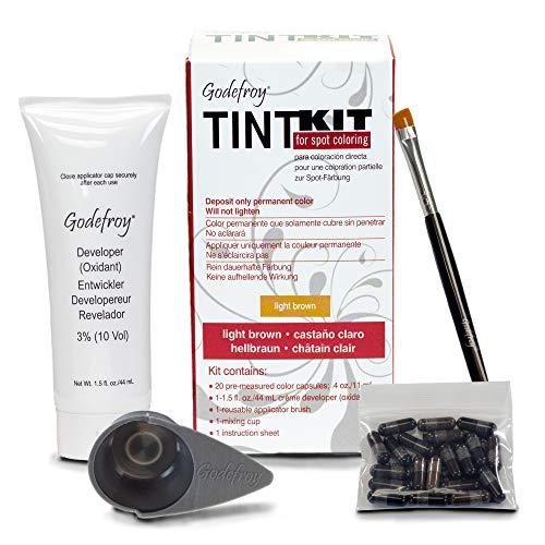 Godefroy TintKit for spot coloring, Augenbrauen,Bart- Färbeset für Profis, hellbraun, 1er Pack (1...