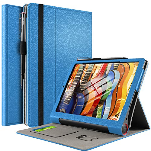 IVSO Coque Etui Housse pour Lenovo Yoga Smart Tab, Slim-Book Cover Housse de Protection Stand Folio Case pour Lenovo Yoga Smart Tab 2019 Tablette, Bleu