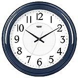 FortuneVin Wanduhren Dekoration fürs Wohnzimmer Wanduhren Kinderzimmer Küchenuhr Wanduhren Runden Tisch Leise elektronische Quarzuhr Kalender 10 in Dunkelblau-025