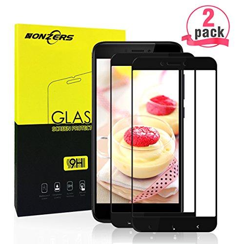 Panzerglas für Xiaomi Redmi 4X,[2 Stück] Ultra-klar 3D Vollständige Abdeckung 9H Härtegrad Panzerglasfolie Displayschutzfolie für Xiaomi Redmi 4X (Schwarz)