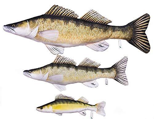 Gaby DER Zander Sander Lucioperca Kuscheltier Stofftier Fisch Polyester (77cm)