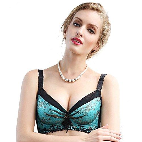 [Gazeunterwäsche]/Einzigartige Blumen-Design versammelt Unterwäsche/ keine Stahl verstellbare Unterwäsche/ Sammeln von Milch Unterwäsche/ sexy Ladies BRA mesh Dessous-B 75B (Lace Floral Womens Bras Stürzen)