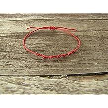 83ab642393feb2 bracelet Porte bonheur kabbale - fil rouge 7 noeuds