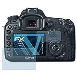 atFoliX Film Protection d'écran pour Canon EOS 7D Mark II Protecteur d'écran - Set de 3 FX-Clear ultra claire Film Protecteur