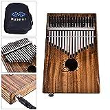 Kalimba Mahagoni Thumb Piano Link Lautsprecher Elektrische Pickup-Tasche EQ Finger Piano für Anfänger Kinder Lehreinri