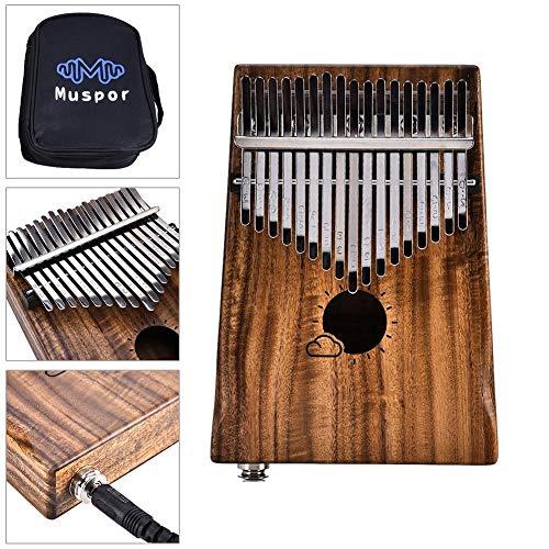 Kalimba Mahagoni Thumb Piano Link Lautsprecher Elektrische Pickup-Tasche EQ Finger Piano für Anfänger Kinder Lehreinrichtung und Musik Enlighten B -