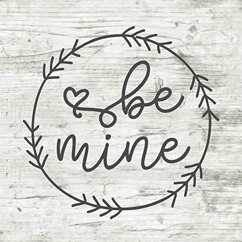 Isti Be Mine Kranz Valentinstag Vinyl-Aufkleber Holz Craft Home Decor Februar