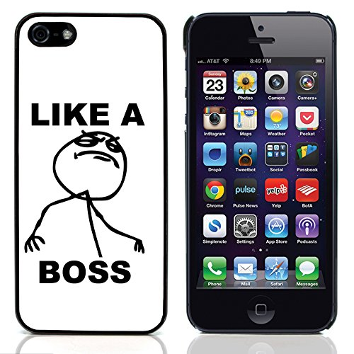 Graphic4You Forever Alone Internet Meme Design Harte Hülle Case Tasche Schutzhülle für Apple iPhone 5 und 5S Like A Boss
