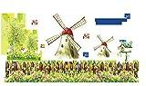 HhGold Wandhalterung Innovative Abnehmbare Landhausstil Windmühlen Geschmackvoll mit Postern dekoriert, 60 * 120 cm 60 * 90