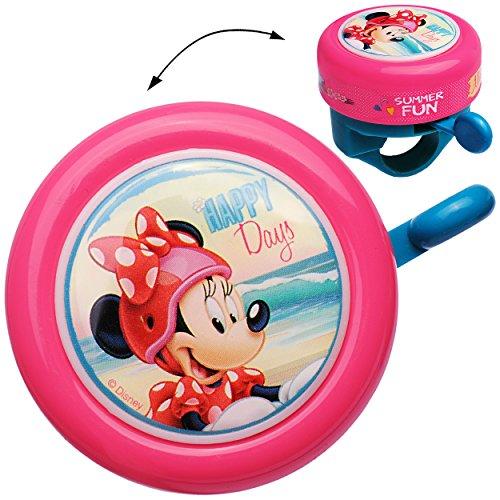 """Fahrradklingel - """" Disney Minnie Mouse """" - Klingel für das Fahrrad - Kinder Mädchen - Lenkerklingel - Maus Mäuse Playhouse - universal auch für Roller und Dreirad Laufrad / Kinderfahrrad - Klingeln"""