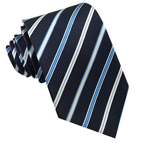 Dunkelblaue Italienischer Anzug (GASSANI Schmale 8cm Breite Krawatte Gestreift | Herrenkrawatte zum Sakko Anzug | Schlips Binder Mehrfarbig mit Streifen)