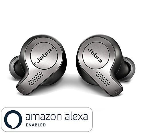 Jabra Elite 65t True Wireless Stereo In-Ear-Kopfhörer (Bluetooth, zum Musik hören und telefonieren, mit one-touch, geeignet für Alexa, Siri und Google Assistant) titan - Mini Wasserdicht Stereo