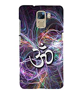 Fuson Premium Back Case Cover OM' With orange Background Degined For Huawei Honor 7