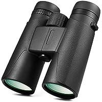 LESHP Prismáticos 12x42, Binoculares Óptico Visión con Película de Revestimiento Ultra Banda Ancha y Película FMC Verde, Ideales para Observación de Aves/ Acampada/ Caza/ Ópera/ Conciertos/Turísticas