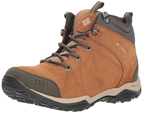 COLUMBIA Damen Multisportschuhe, Wasserdicht, FIRE VENTURE MID, Braun (Elk, Ancient Fossil), 38 Elk Schuhe
