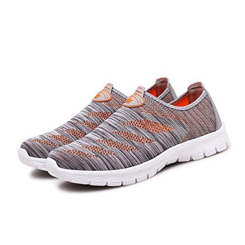 AFFINEST Scarpe da Ginnastica Sneakers Respirabile Mesh Scarpe da corsa all'aperto Sneakers Donna Uomo Unisex Adulto grey/orange-A