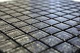 Fliesen Carrelage mosaïque Noir brillant 8mm de sol pour cuisine, salle de bain, WC # 597