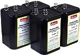 4R25 6V-Blockbatterie Ersatz für Nissen Laternenbatterie IEC 4R25 4er Set, 6V, Zink-Kohle