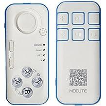 Morjava® Mini portátil inalámbrico Bluetooth Reproductor de música mando a distancia controlador Joystick Gamepad obturador de la cámara Google cartón realidad Virtual 3d gafas