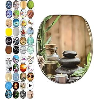 WC Sitz mit Absenkautomatik, viele schöne WC Sitze zur Auswahl, hochwertige und stabile Qualität aus Holz (Spa)