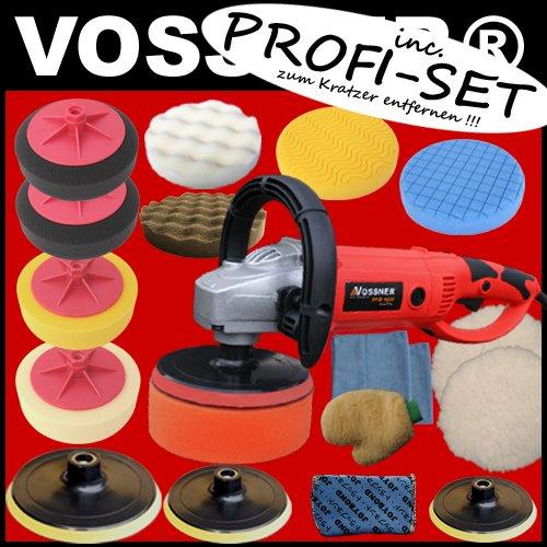 Poliermaschine Vossner PPM 1600 POLISHER + Profi Set (zum Kratzer entfernen)