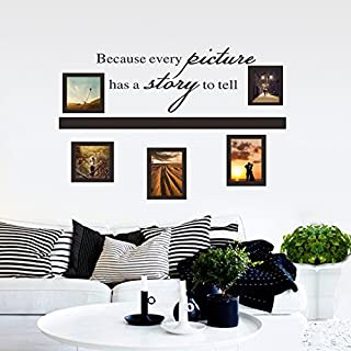 ASENART Because Every Picture Has A Story To Tell DIY Photo Frame Wall Sticker for Living Room Home Decor Size 18