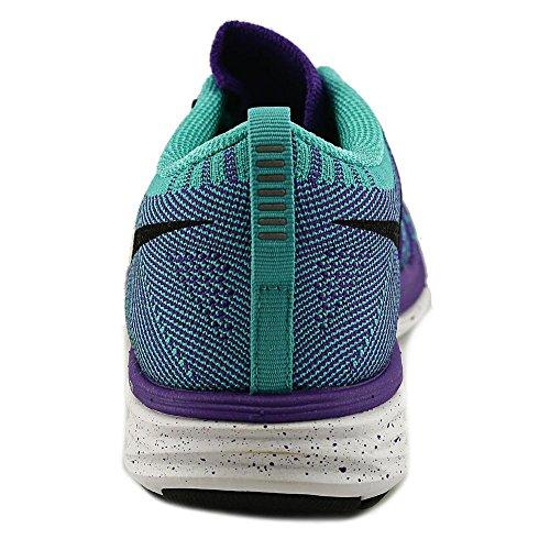Nike FlyKnit Lunar2 Femmes Synthétique Chaussure de Course Purple-Aqua