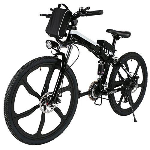 mymotto modalità 26pollici pieghevole Velocità di bicicletta di montagna batteria ioni di litio vive elettrico Pedelec 27kmh Nero
