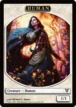 Magic: The Gathering - Human Creature Token - Avacyn Restored by Avacyn  Restored