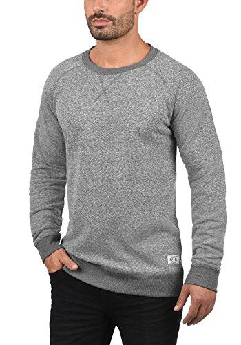 REDEFINED REBEL Morris Herren Sweatshirt Pullover Sweater mit Rundhals-Ausschnitt aus hochwertiger Baumwollmischung Meliert Forged Iron