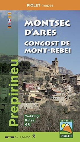 Montsec d'Ares. Congost de Mont-rebei. 1:20.000. mapa excursionista. Piolet. por VV.AA.