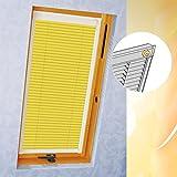Persianas con rieles laterales para Fakro para VU, FK, FL, FT 114/118/color E215/amarillo, láminas de aluminio, de aluminio