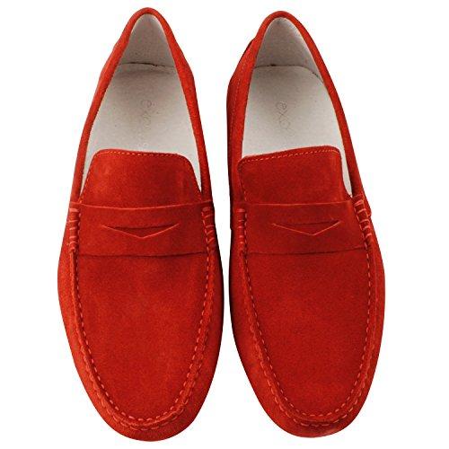 Exclusif Paris  Exclusif Paris Boat, Chaussures homme Mocassins homme,  Herren Slipper & Mokassins Rot - rot
