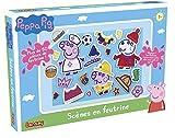 Lansay - 20024 - Peppa Pig - Scènes en Feutrine