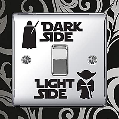Dark Light Side Switch Vinyl Decal Sticker Child Room Lightswitch Wall by Inspired Walls : everything 5 pounds (or less!)