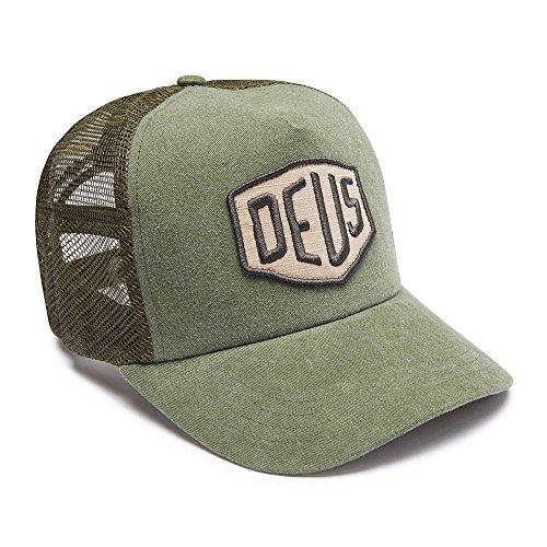 DEUS Trucker Kappe Foxtrot Shield - olive (Machina Ex Deus)