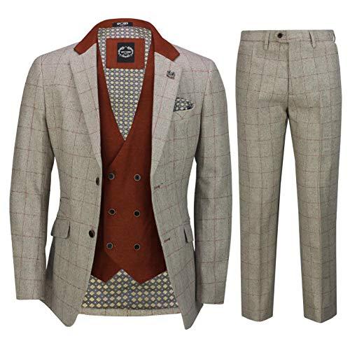 Xposed Herren Anzug Elfenbein cremefarben 116,84 cm 91,44 cm Gr. 27, cremefarben
