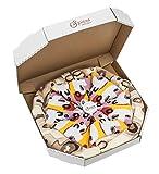 PIZZA SOCKS BOX - Capricciosa - 4 paia di CALZINI Divertenti di COTONE, Originali e Unici - REGALO perfetto - Gadget Colorato| per Donna e Uomo, EU 36-40, Prodotto in Europa